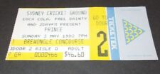 PRINCE - AUSTRALIAN TOUR TICKET - 1992  - SYDNEY -