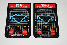 Tron Solar Sailer Intellivision Video Game Controller Overlay Pair Only