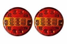 2 x 12V 24V Rear Tail Turn Indicator Stop LED Lights Trailer Truck Lorry TRL140L