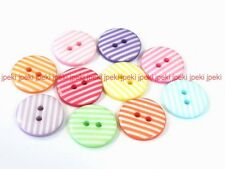 Lot of 70 Stripe Buttons 11/16