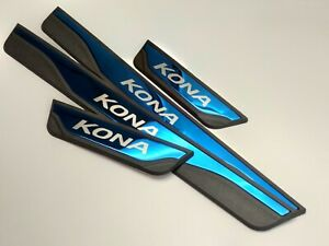 For Hyundai Kona Accessories Door Sill Scuff Plate Stainless Steel Protectors