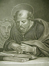 Évangéliste Markus Acier clés environ 1850 c'était 복음사가 마르코 Апостол Марк Mark the
