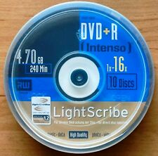 10er Spindel - Intenso - LIGHTSCRIBE - DVD+R - 4,7GB/120min - 1-16x - NEU/OVP.!
