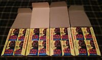 1977 TOPPS STAR WARS SERIES 2 UNOPENED *144 PACKS* WAX BOX LOT of 4 *CASE FRESH*