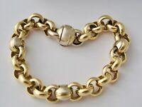 ARMBAND 750 / 18K GOLD 35,8G 20,8cm BICOLOR Erbsenarmband WERT 5200,-€