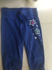 Junior Girl Capri Pants Size medium 10 Blue Print Sweatpants