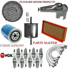 Tune Up Kit Filters Cap Spark Plugs Wire For FORD F-150 V8 5.0L 1989-1991