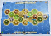 Die Siedler von Catan _ 24 bunte Städte Räuber und 3 Spielpläne A, B, und C ...