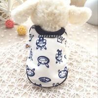 Girl Yorkie Dog Clothes Boy Pet Pajamas Cat Puppy T-Shirt Chihuahua Teacup XXXS