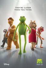 MUPPETS -2011-Orig 2-sided 27x40 movie poster-Adv Style - AMY ADAMS, JASON SEGEL