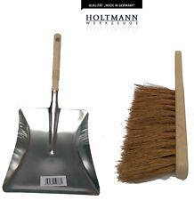 Metal Dustpan & Brush Garden Trading Galvanised Dustpan and Wooden Brush GERMAN