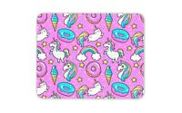 Awesome Pink Mouse Mat Pad - Unicorn Donut Cat Doughnut Gift PC Computer #8332