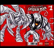AMAZING SPIDER-MAN #1 BLANK COVER ART BY KEN HAESER -ANTI VENOM NM +COA