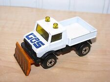 Matchbox Mercedes Benz Unimog Snow Plow Truck White