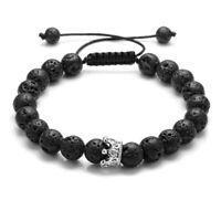 Handmade Natural Lava Stone Bead Essential Oil Diffuser Adjustable Bracelet NSL9