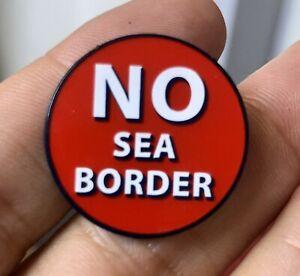 No Sea Border Anti-EU Ulster Unionist Loyalist Enamel Metal Pin Badge 25mm