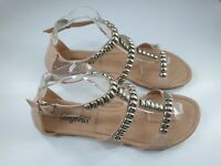 New Look size 8 (42) dusky pink faux snakeskin leather strappy Gladiator sandals
