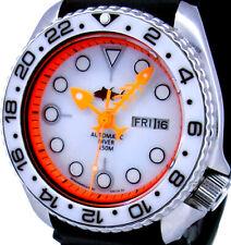 Vintage mens Seiko diver PEPSI 6309 FISH-BONE mod w/WHITE Mother of Pearl dial !
