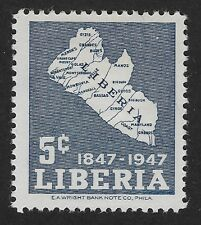 Liberia 1947 The 100th Anniversary of Independence 5c (DX4)