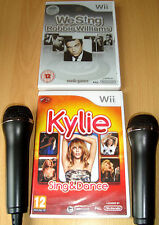 Like Lips We Singing Robbie Williams, Kylie Dance Wii Microphones Karaoke Games!