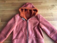 YEEZY NEW Season 3 RUST Hooded Shearling Jacket Coat Large NWT $1800 Kayne West