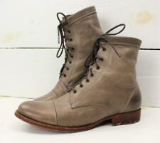 Frye Womens Erin Workboot Soft Vintage Gray Leather Combat Lace Up Boots Sz 8 B