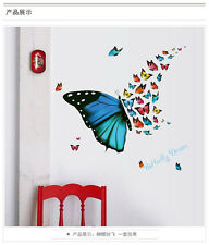 Removable Vinyl Decal Mural Wall Stickers vinyl Butterflies fly Home Decor Quote