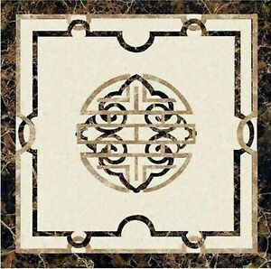 """Pietra Dura Art Coffee Table Top Black Marble Center Table from Cottage Art 24"""""""