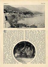 Italien Nervi Riviera di Levante Villa Caravon Sarazenenturm Gropalloturm 1903