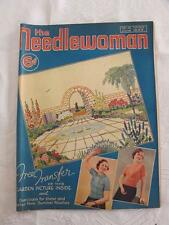 "VINTAGE 1930's ""THE NEEDLEWOMAN"" SEWING FASHION MAGAZINE - JUNE 1938"