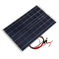 18V 30W Portable Solar Panel Car Battery Bank Charger Universal W/Alligator Clip