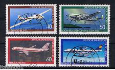 GERMANIA 4 FRANCOBOLLI PRO GIOVENTU AERI JUGEND 1980 usato
