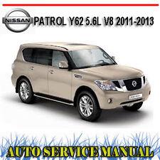 NISSAN PATROL Y62 5.6L V8 2011-2013 WORKSHOP SERVICE REPAIR MANUAL ~ DVD