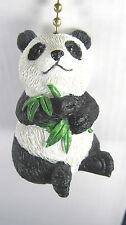 Panda Bear eating Bamboo ceiling fan or light pull home decor