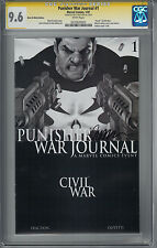 Punisher War Journal #1 (NM+) CGC SS 9.6 White Pages signed by Matt Fraction