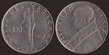 VATICANO - PIO XII - 100 LIRE 1957 SPL