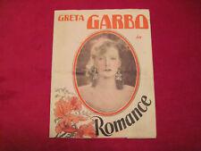 GRETA GARBO ROMANCE Movie Herald Pamphlet 1930