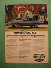 Feb.1975 Reader's Digest Ad for 1975 Chevy Monte Carlo