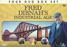 FRED DIBNAH'S INDUSTRIAL AGE - 4 DVD BOX SET - RAILWAYS, IRON & STEEL & MORE