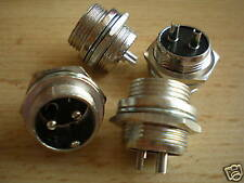 2 pin Mike Power chassis mounting plug   good quality    pack of 4     Z866