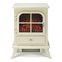 Galleon Fires SIRIUS ' Electric Stove Fire Log Flame Effect Heater Fire - Cream