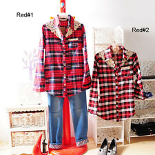 ❤Lace Checker Top❤Japan Korean Fashion blouse shirt japanese cool funky cute S