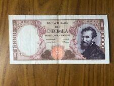 repubblica italiana BANCONOTA LIRE 10000 MICHELANGELO 4 1 1968