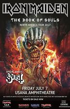"Iron Maiden ""The Book Of Souls North America Tour 2017"" Salt Lake Concert Poster"