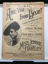 1915 Are You From Dixie? ('Cause I'm from Dixie Too) - Sheet Music No 843