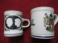 DENBY Royal Wedding 1981 Mugs x2 - Excellent Quality - Charles and Diana