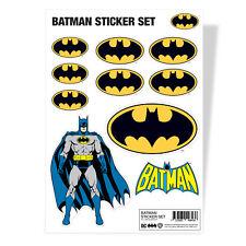 Batman Classic Retro Logo DC Comics Fledermaus Sticker Sheet Stickers Aufkleber