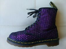 DOC DR MARTENS PURPLE GLITTER OVAL PATTERN BOOT RARE VINTAGE MADE IN ENGLAND 6UK