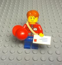 Lego New City Post Office Mail Delivery Carrier Messenger Boy / Male Mini Figure