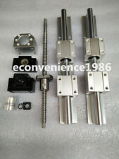 2 X SBR25-1800mm LINEAR RAIL & SBR25UU & 1x RM2505-1800mm Ballscrew&BF20/BK20set
